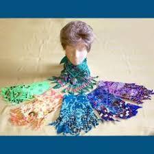 diy mardi gras bead bandana sky blue beaded bandana 10 00 via etsy easy to make