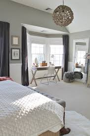 Steely Light Blue Bedroom Walls Wide Plank Rustic Wood by Rustic Chic Mini Master Reveal My Desk Intended For Farmhouse