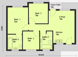 Building Plans For Houses 3 Bedroom House Floor Plans In South Africa Savae Org
