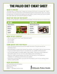 the paleo diet cheat sheet ultimate paleo guide