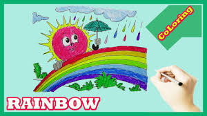 learn colors kids rainbow coloring pages color