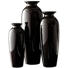 70cm Vase Large Conical Floor Vase Anna Of Glass Black 2 U00274 U0027 U0027 70 Cm ø 9