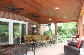 Covered Patio Lighting Ideas Covered Patio With Vaulted Ceiling Ideas Rustic Patio