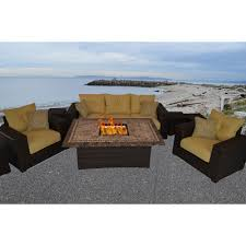 South Beach Sofa Outdoor Innovation South Beach 8 Piece Fire Pit Seating Group With
