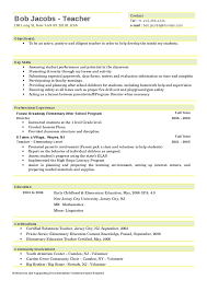 New Teacher Resume Sample by Daycare Resume Teachers Resume Example Education Quickstart