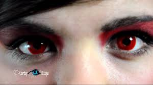 red eye contacts for halloween czerwone soczewki kolorowe partyeye crazy red eye contact lenses