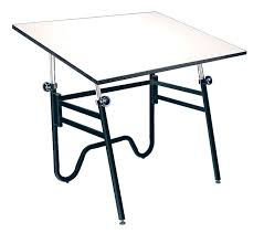 Drafting Tables Alvin 36x48 Opal Folding Drafting Table Compact Portable Black Base