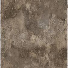 Vinyl Tiles On Concrete Floor Trafficmaster Chestnut Blended Slate 18 In X 18 In Peel And