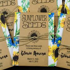 seed packets sunflower memorial seed packets gloria s garden