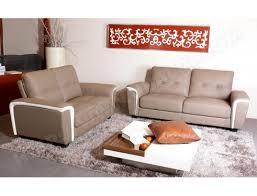 matière canapé canapé bi matière ub design macy 3 places fixe cuir taupe et blanc