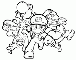 mario luigi printable coloring pages coloring home