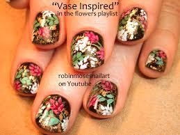 robin moses nail art cute geometric nail art red and black
