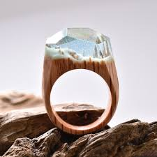 jewelry wooden rings images Snowy mountains and undersea worlds encapsulated within wood and jpg