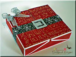 star christmas card with gift box castlepark designs