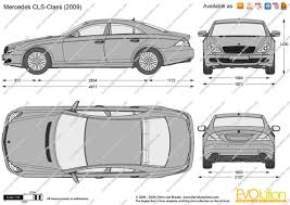 the blueprints com vector drawing mercedes benz cls class w218