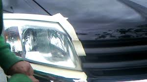 restoring headlights on a mitsubishi endeavor before avi youtube