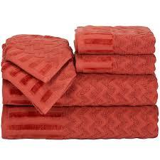 Bathroom Towel Sets by Cambridge Home Chevron 6 Pc Egyptian Cotton Bath Towel Set Jcpenney