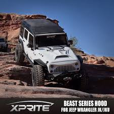 monster jeep jk xprite angry monster beast fiberglass dome style hood for jeep