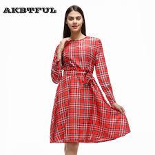 aliexpress com buy women o neck check tartan checkered plaid