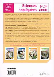 sciences appliqu s cap cuisine note de lecture ouvrages pédagogiques hôtellerie restauration