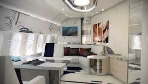 Private Plane Bedroom Luxury Living Best Private Jet Interior Designs