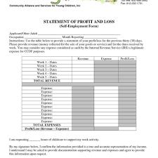 church income statement template u2013 corpedo inside daycare profit