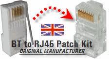 bt to rj45 patch kit 4 user adsl broadband version rj45v4b