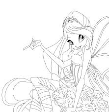 club flora harmonix coloring pages