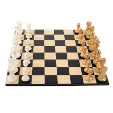 Wooden Chess Set Bold Chess Metallic Gold V Gloss White Wooden Chess Sets