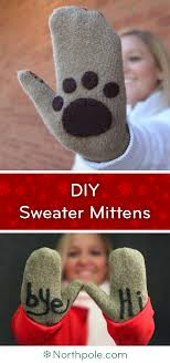 sweater mittens craft cottage wooly paws diy sweater mittens