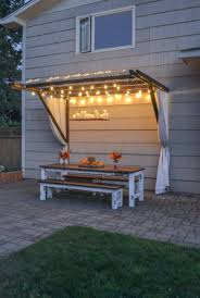 Outdoor Pergola Lights by How To Build A Super Frugal Pergola Outdoors Pinterest