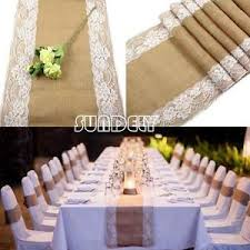 lace table runners wedding vintage rustic burlap hessian lace table runners wedding decoration