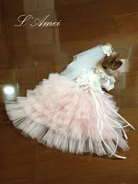 dog wedding dress custom made dog wedding dress made of soft pink tulle and