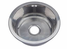 buy stainless steel sink round bowl polished stainless steel inset kitchen sink waste kit