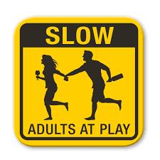 adults at play coaster