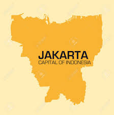 Map Of Jakarta Simple Outline Map Of The Indonesian Capital Jakarta Royalty Free