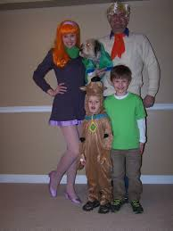 family group halloween costumes scooby doo gang mystery inc