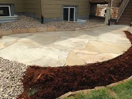 Flagstone Patio Cost Per Square Foot by Colorado Buff Flagstone Patio With Really Large Pieces Installed