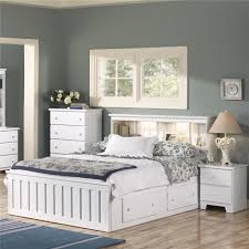 white shaker bedroom furniture lang shaker queen bookcase bed with under bed drawer storage and