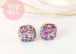 diy earring studs diy kate spade inspired glitter studs earth and craft