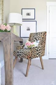 Leopard Chairs Living Room Leopard Print Desk Chair Transitional Den Library Office