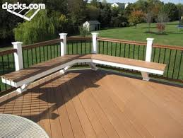 Decks With Benches Built In 193 Best Deck Images On Pinterest Backyard Decks Solar Power