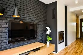black and wood black and white loft warmed through wood by disenio interior