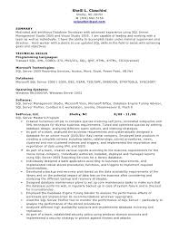 database administrator resume template computer programming