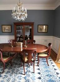 blue gray dining room benjamin moore paint color gravel gray