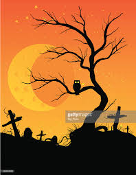 halloween owl silhouette halloween owl vector art getty images