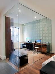 interior glass walls for homes room sound barrier not visual barrier daylight flows