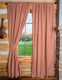 Burgundy Curtain Panels Country Farmhouse Curtains Country Kitchen Curtains U0026 Window
