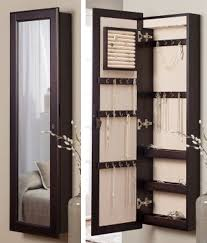 brown jewelry armoire decorating elegant wooden standing mirror jewelry armoire in dark