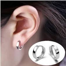 small silver hoop earrings classic korean fashion small hoop earrings brincos
